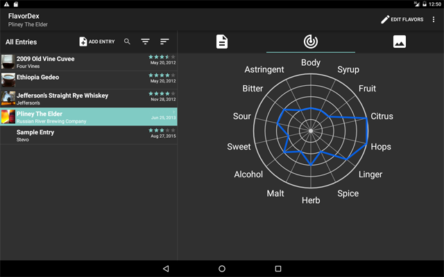 Here's a little preview of the app on a tablet.